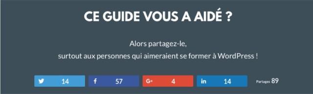 Insérer les boutons de partage dans les pages