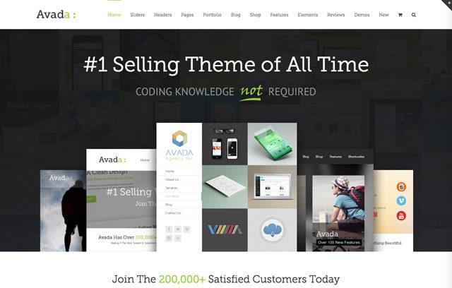 Avada, le thème premium le plus téléchargé de Themeforest