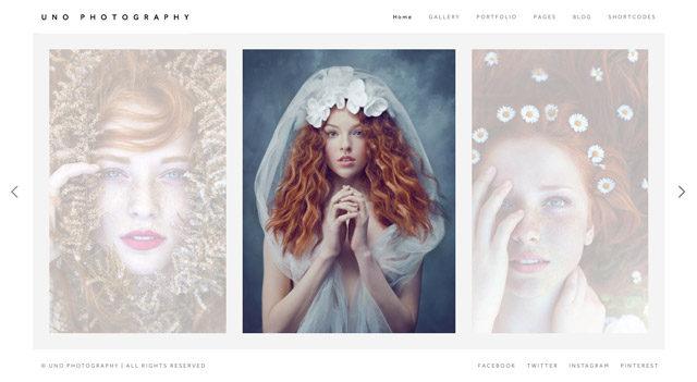 Uno : un template WordPress photo