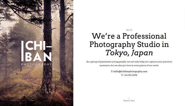 Ichiban, un template WP pour photographes