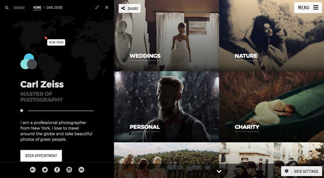Le template WordPress Photography