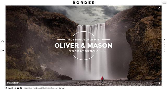 Border : un thème WordPress pour photographes
