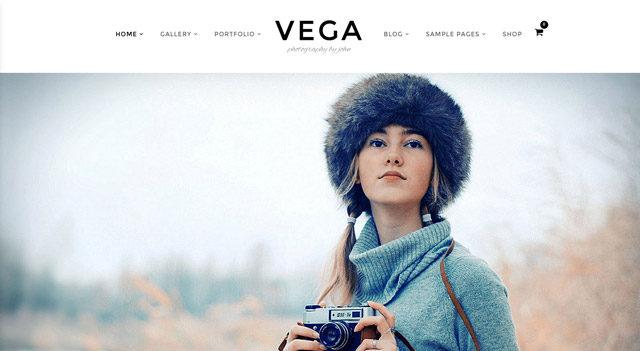 Le thème WordPress photo Vega