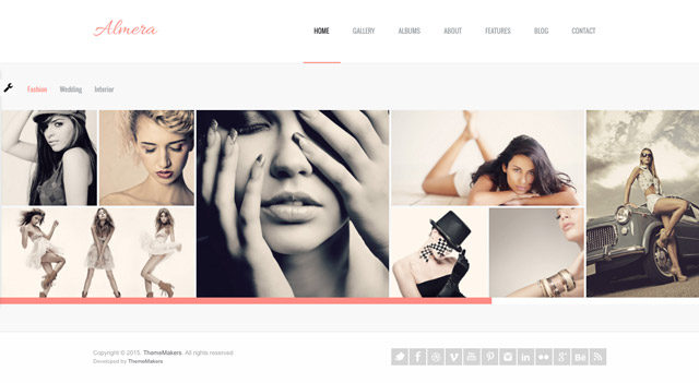 Le thème WordPress photo Almera