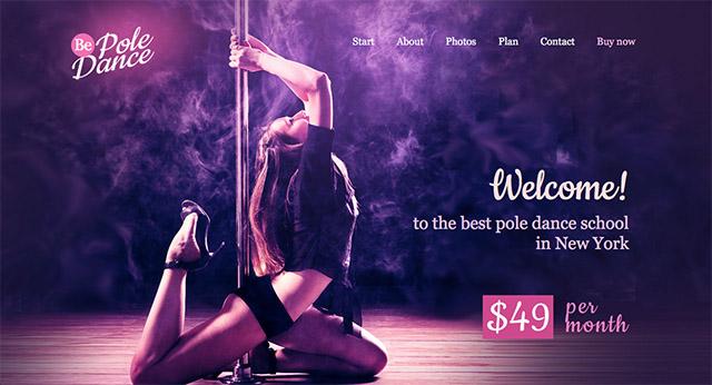 La démo de BeTheme pour les écoles de pole-dance
