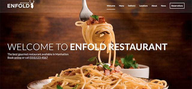 "La démo ""Restaurant"" d'Enfold"