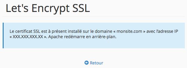 Configuration de Let's Encrypt