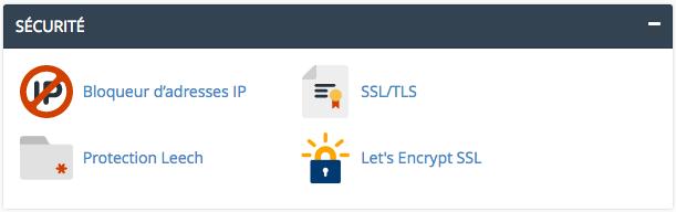 Let's Encrypt dans le cPanel