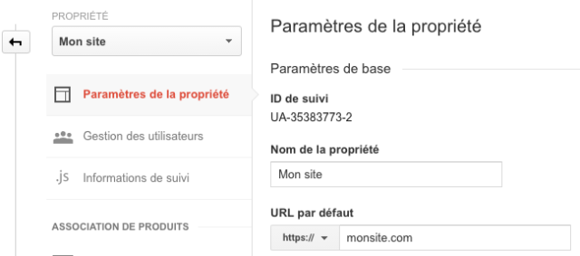 HTTPS dans Google Analytics