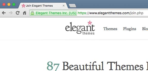 Le https sur Elegant Themes