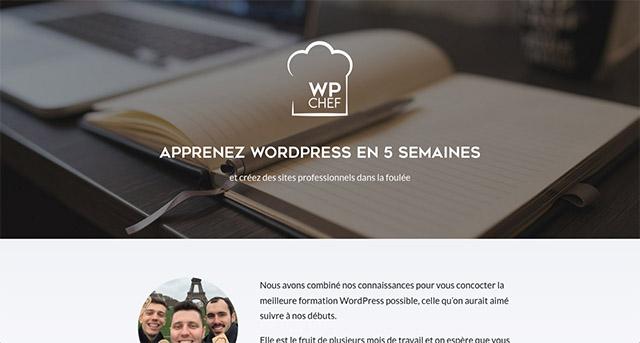 Exemple de site avec Divi : WPChef