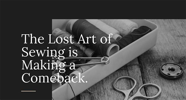 La démo «Sewing»