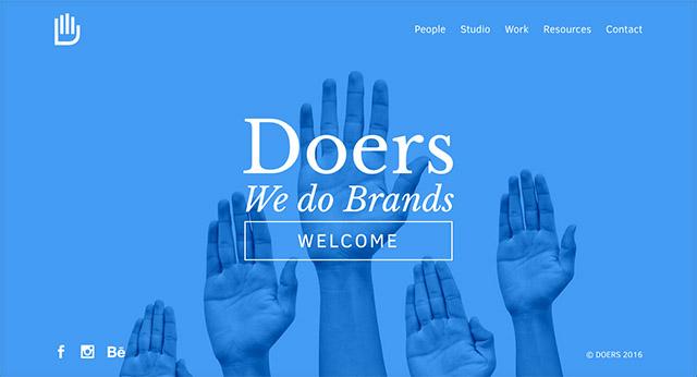 Exemple de site avec Divi : Doers