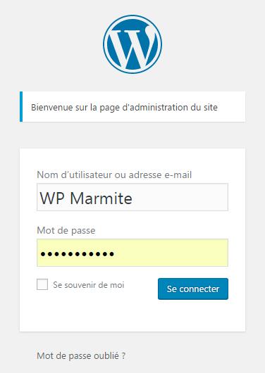 message admin snippet wpmarmite