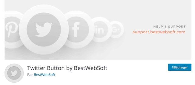 Extension Twitter button