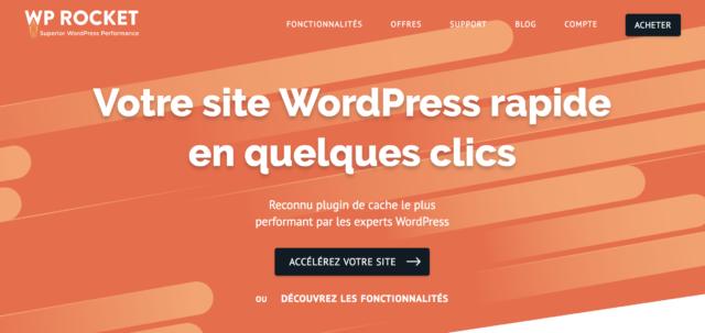 WP Rocket, le plugin de cache pour WordPress