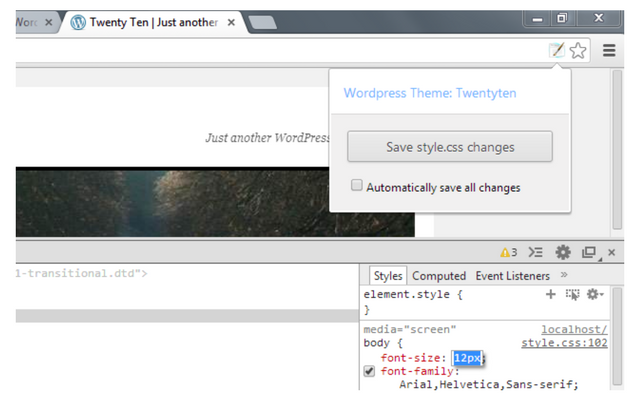 style editor wordpress