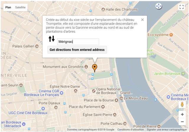 5SEC Google Map Pro carte de Bordeaux