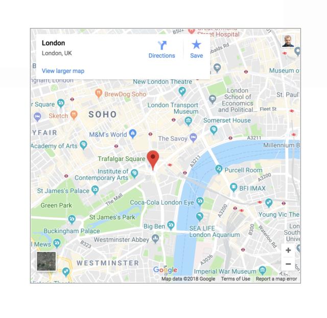 Google Maps widget affichage d'une lightbox