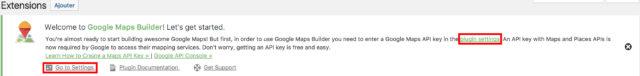 Maps Builder création d'une clé API