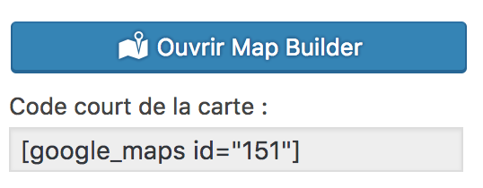 Maps builder shortcode