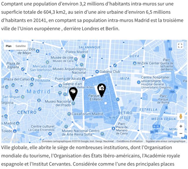 Maps builder intégration d'une carte en page