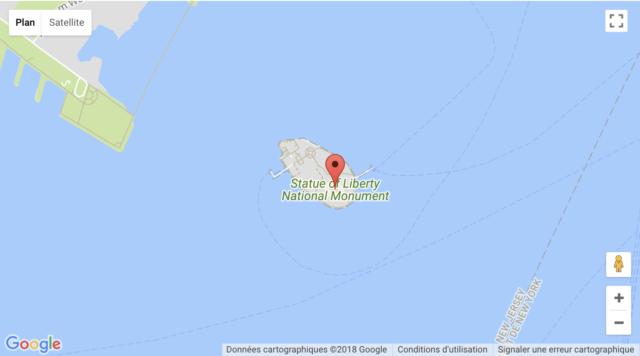 Simple Google Maps shortcode Statue de la Liberté