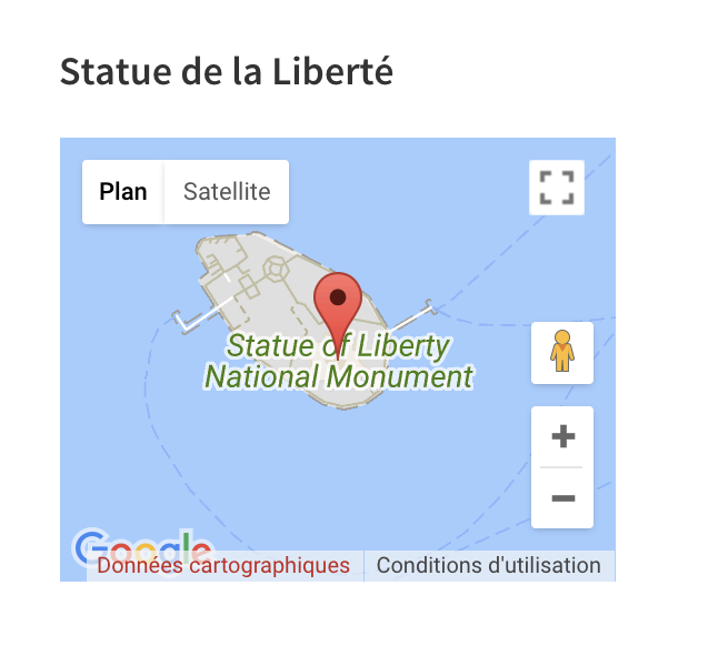 Simple Google Maps shortcode intégration sidebar