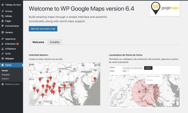 WP Google Maps administration