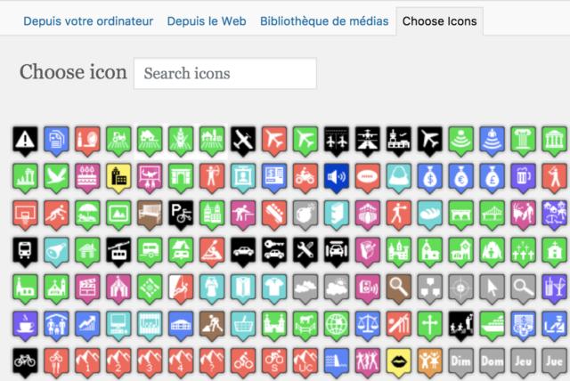 WPGoogleMapPlugin choix d'une icône