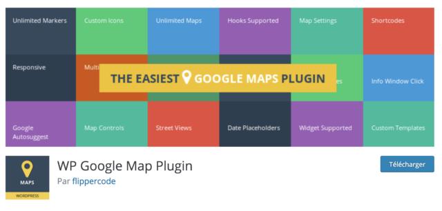 WP Google Map Plugin répertoire
