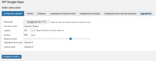 WP Google Maps configuration