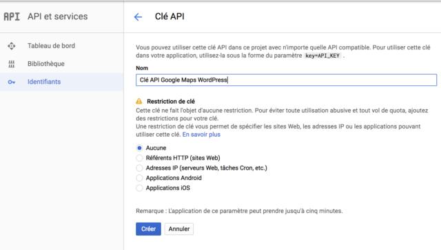 WP Google Maps clé API2