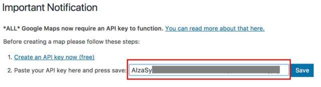Clé API zone