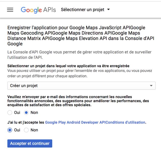 WP Google Maps création clé API