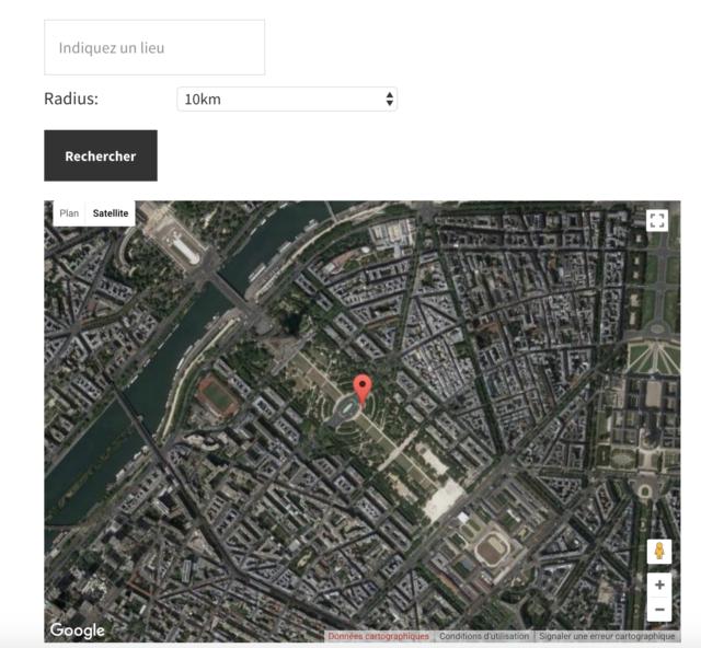 WP Googlle Maps vue satellite du Champ de Mars