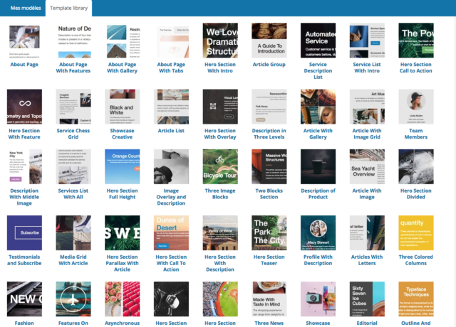 visual composer templates gratuits