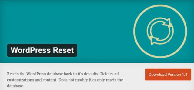 wordpress reset