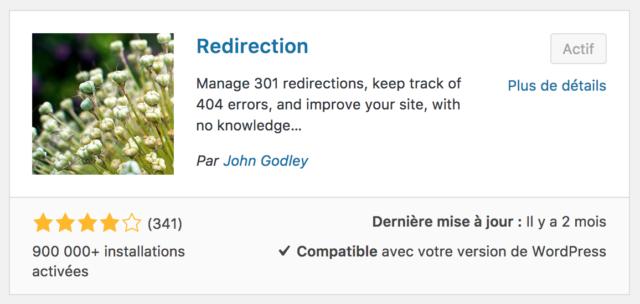 Plugin Redirection WordPress