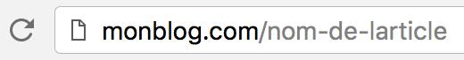 URL optimisée pour le référencement