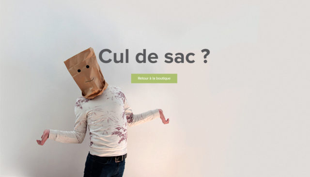 Page 404 humoristique