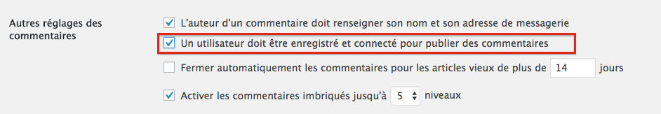 RGPD gestion des commentaires WordPress