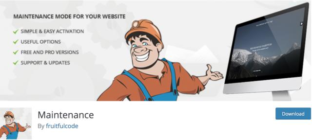 L'extension WordPress Maintenance sert à créer un coming soon site