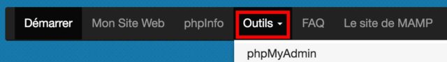 PHPMyAdmin avec MAMP