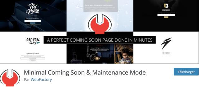 Minimal Coming Soon screenshot
