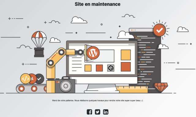 Under Construction exemple de page du plugin