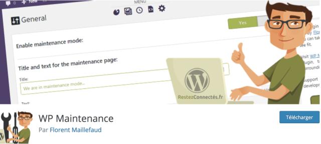 WP Maintenance screenshot