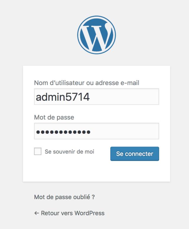 Login OVH WordPress