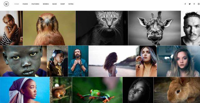 Portfolio WordPress thème Uncode
