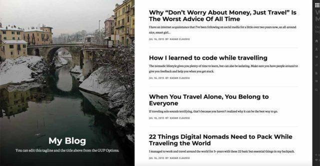 Grace Under Pressure est un thème pour blogueurs en 2 colonnes